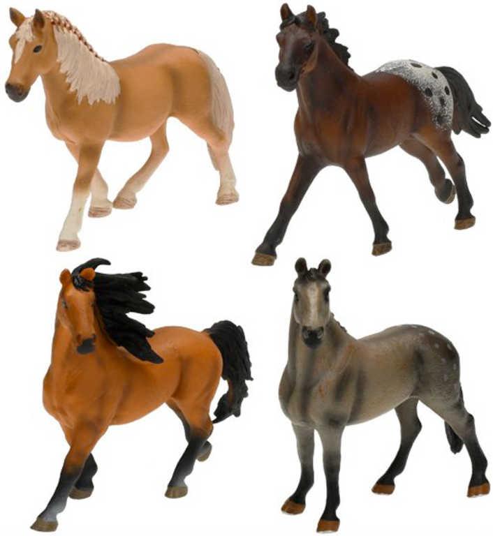 Kůň plastová figurka 14cm různé druhy v sáčku