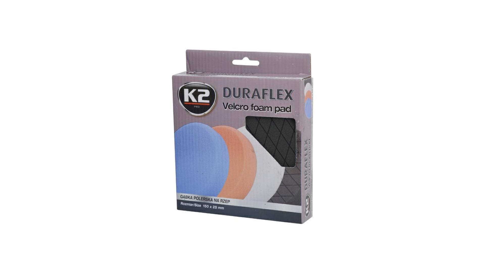 K2 Duraflex leštíci houba 150x25mm černá