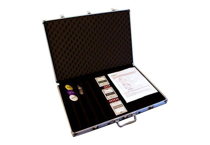 Hliníkový kufr na 1000 ks žetonů s příslušenstvím