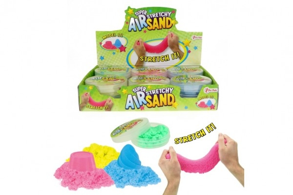 Kouzelný písek pomalu tekoucí tvořivá tvarovací hmota sliz 50g 4 barvy v plast.krabič
