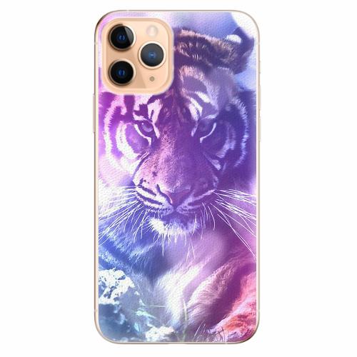 Silikonové pouzdro iSaprio - Purple Tiger - iPhone 11 Pro