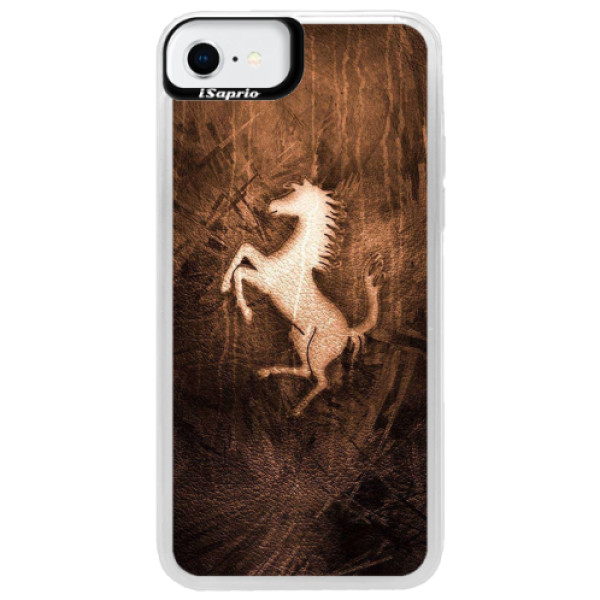 Neonové pouzdro Pink iSaprio - Vintage Horse - iPhone SE 2020
