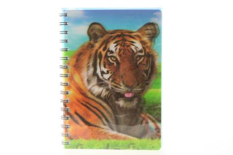 Zápisník A5 tygr 3D