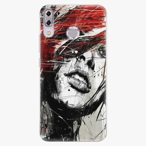 Plastový kryt iSaprio - Sketch Face - Asus ZenFone 5Z ZS620KL