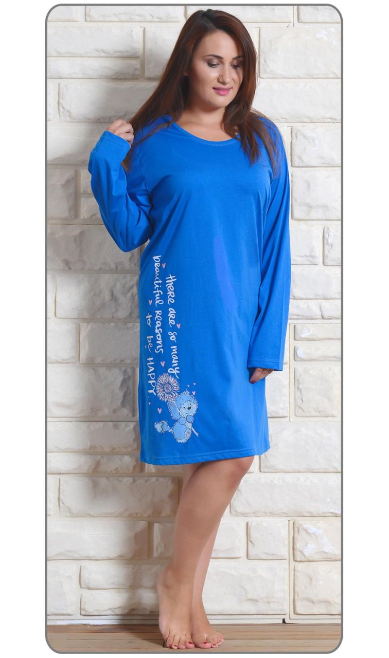 Dámská noční košile Angela - Vienetta - Královská modř/XL