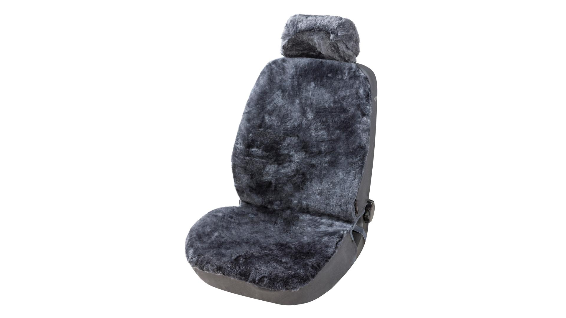 Walser Lambskin Car Seat cover Iva anthracite with ZIPP IT System