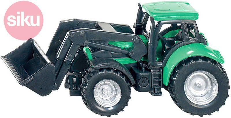 SIKU Traktor Deutz Fahr s nakladačem Na pole KOV + PLAST