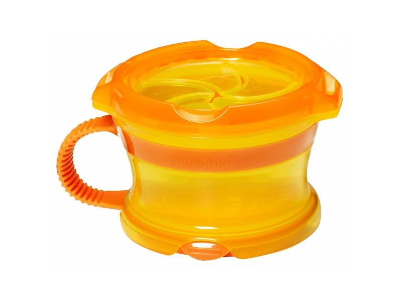Munchkin - Svačinový hrneček Click Lock - Oranžová