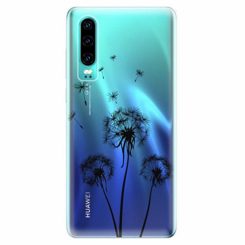 Silikonové pouzdro iSaprio - Three Dandelions - black - Huawei P30