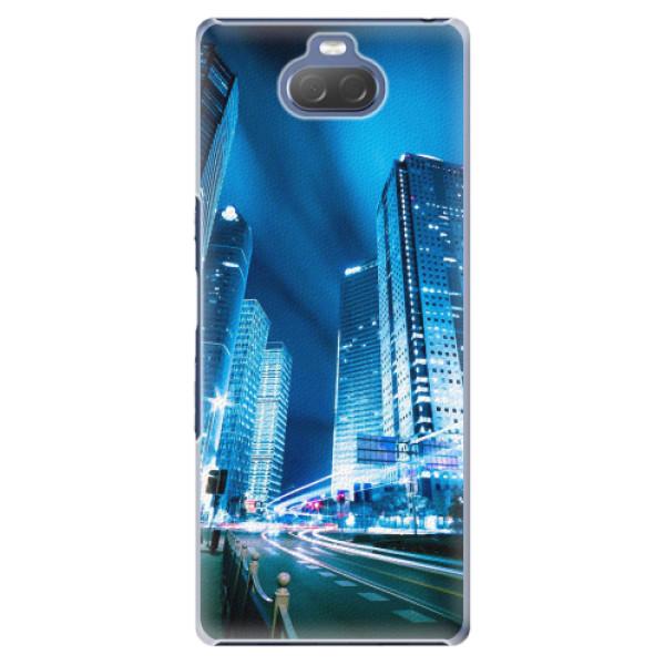 Plastové pouzdro iSaprio - Night City Blue - Sony Xperia 10