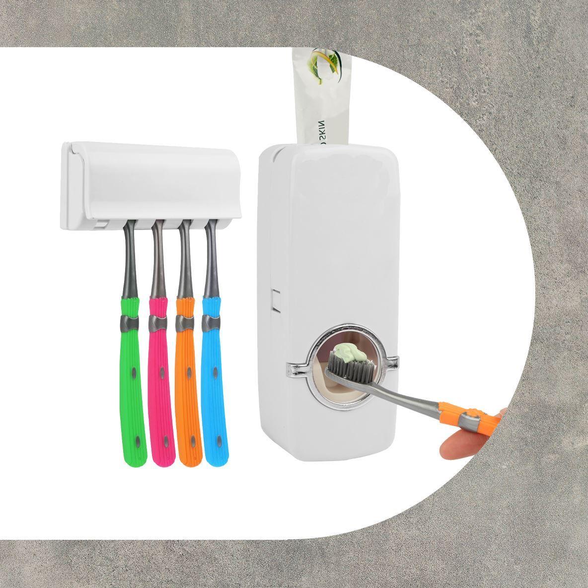 Dávkovač zubní pasty + držák kartáčků