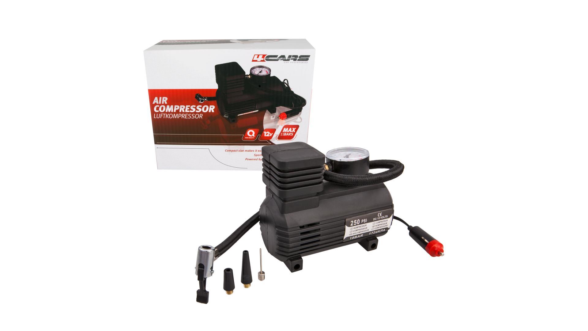 4CARS Kompresor 250 PSI, 18 BAR, 12V