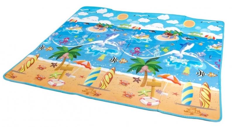 Pěnová hrací deka 200 x 180 x 0,5 cm - oceán