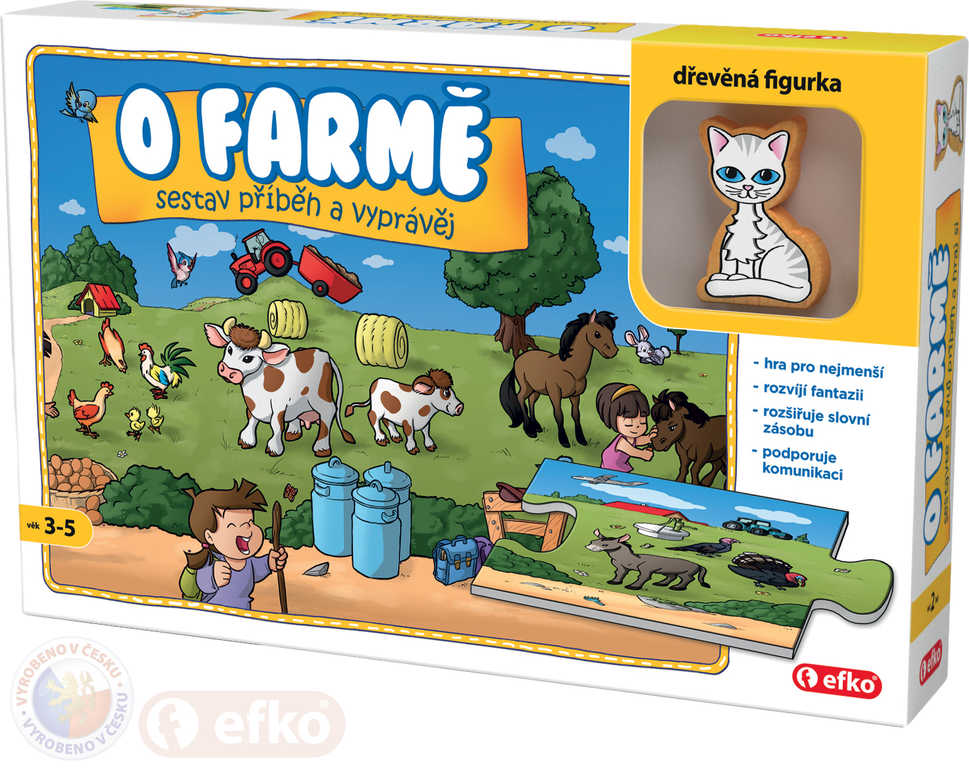 EFKO Baby Hra O farmě puzzle vyprávěcí Skládej a vyprávěj příběhy
