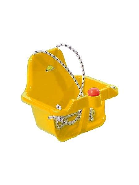 Houpačka s pískátkem - žlutá