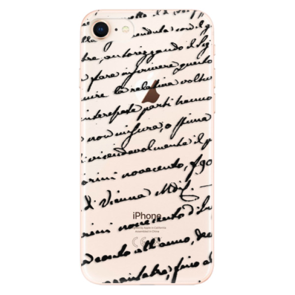 Odolné silikonové pouzdro iSaprio - Handwriting 01 - black - iPhone 8