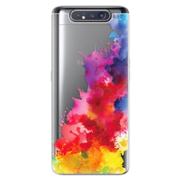 Odolné silikonové pouzdro iSaprio - Color Splash 01 - Samsung Galaxy A80