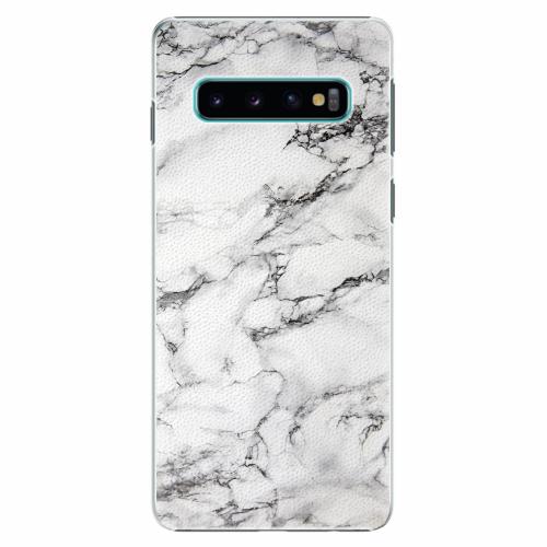 Plastový kryt iSaprio - White Marble 01 - Samsung Galaxy S10