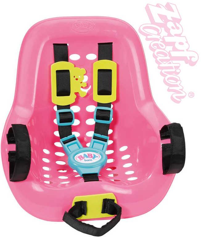 ZAPF BABY BORN Sedačka na kolo pro panenku miminko nastavitelné popruhy plast
