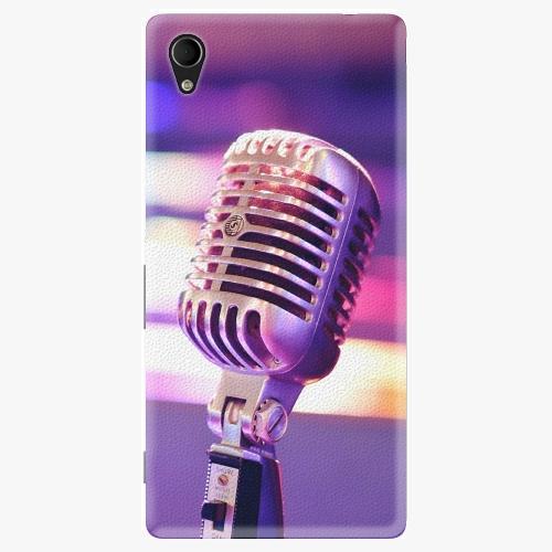 Plastový kryt iSaprio - Vintage Microphone - Sony Xperia M4