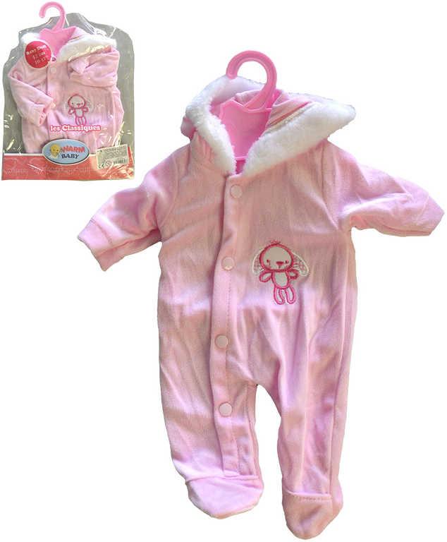 Oblečení pro panenku miminko 42cm dupačky růžové set s ramínkem