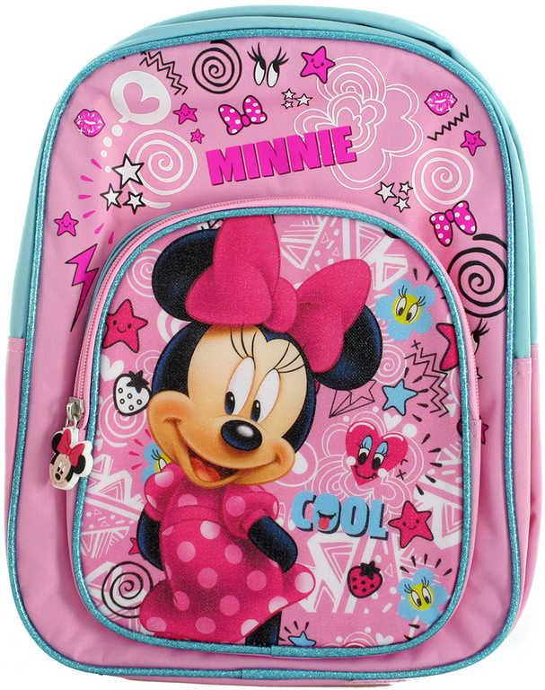 Batoh dětský Minnie Mouse s kapsičkou vepředu 25x11x32cm