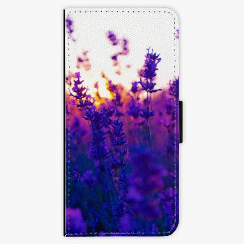 Flipové pouzdro iSaprio - Lavender Field - Samsung Galaxy S7 Edge