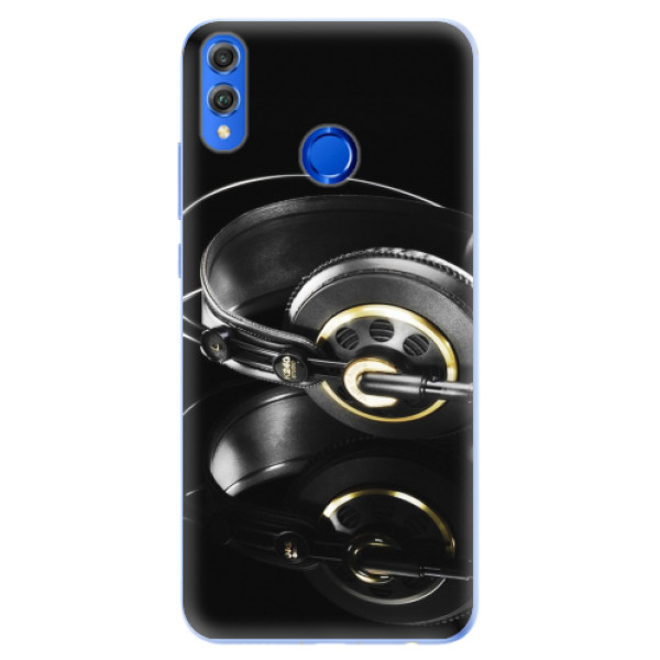 Silikonové pouzdro iSaprio - Headphones 02 - Huawei Honor 8X