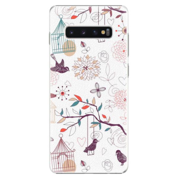 Plastové pouzdro iSaprio - Birds - Samsung Galaxy S10+