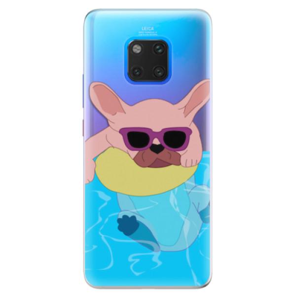 Silikonové pouzdro iSaprio - Swimming Dog - Huawei Mate 20 Pro
