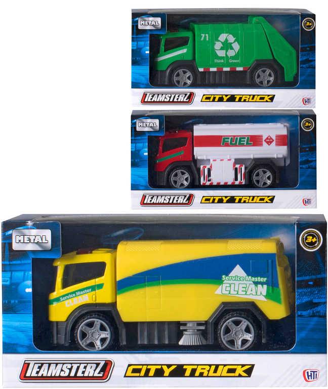 Teamsterz auto kovové technické služby city truck 3 druhy v krabičce
