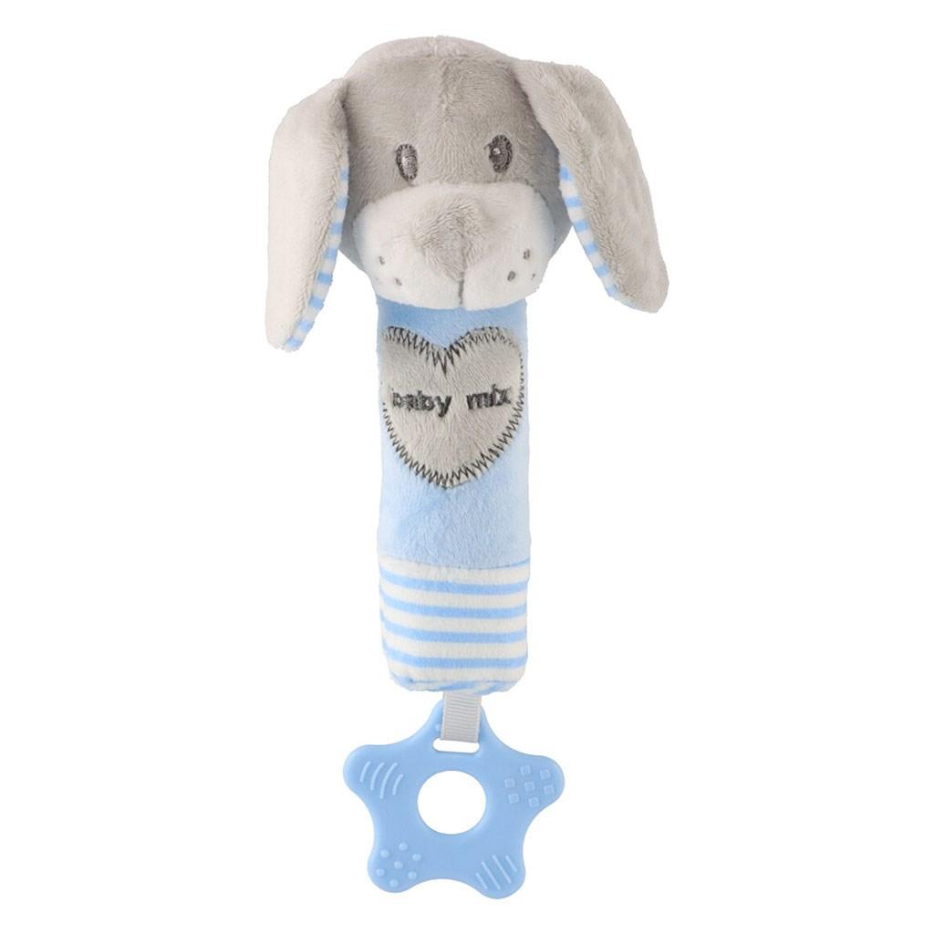 Dětská pískací plyšová hračka s kousátkem Baby Mix