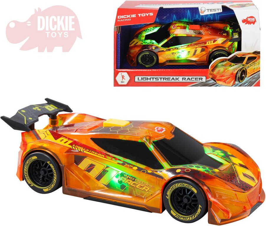 DICKIE Auto závodní Lightstreak 20cm na setrvačník na baterie Světlo Zvuk