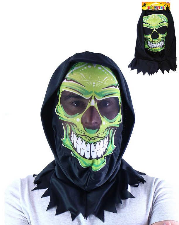 KARNEVAL Maska lebka textilní dospělá *KARNEVALOVÝ DOPLNĚK*
