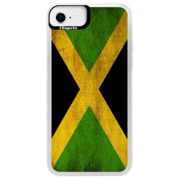 Neonové pouzdro Pink iSaprio - Flag of Jamaica - iPhone SE 2020
