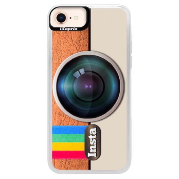 Neonové pouzdro Pink iSaprio - Insta - iPhone 8