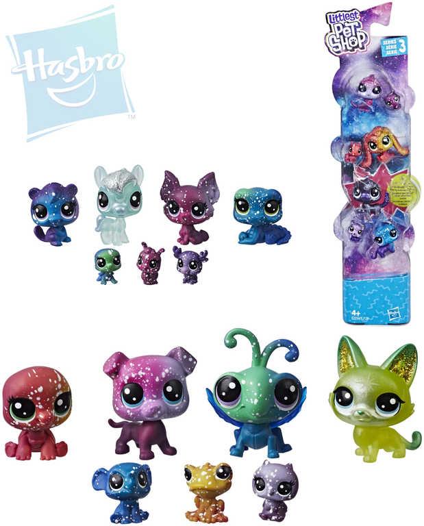 HASBRO LPS Zvířátko Littlest Pet Shop s hvězdičkami kosmické set 7ks