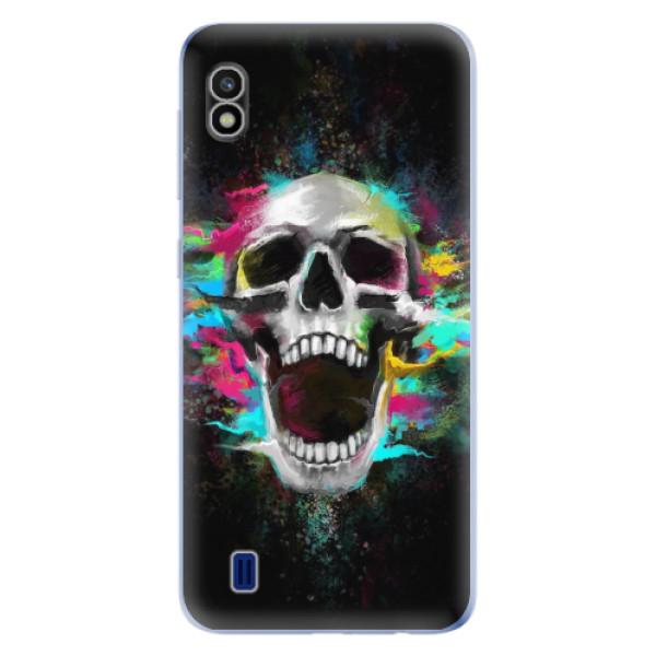 Odolné silikonové pouzdro iSaprio - Skull in Colors - Samsung Galaxy A10