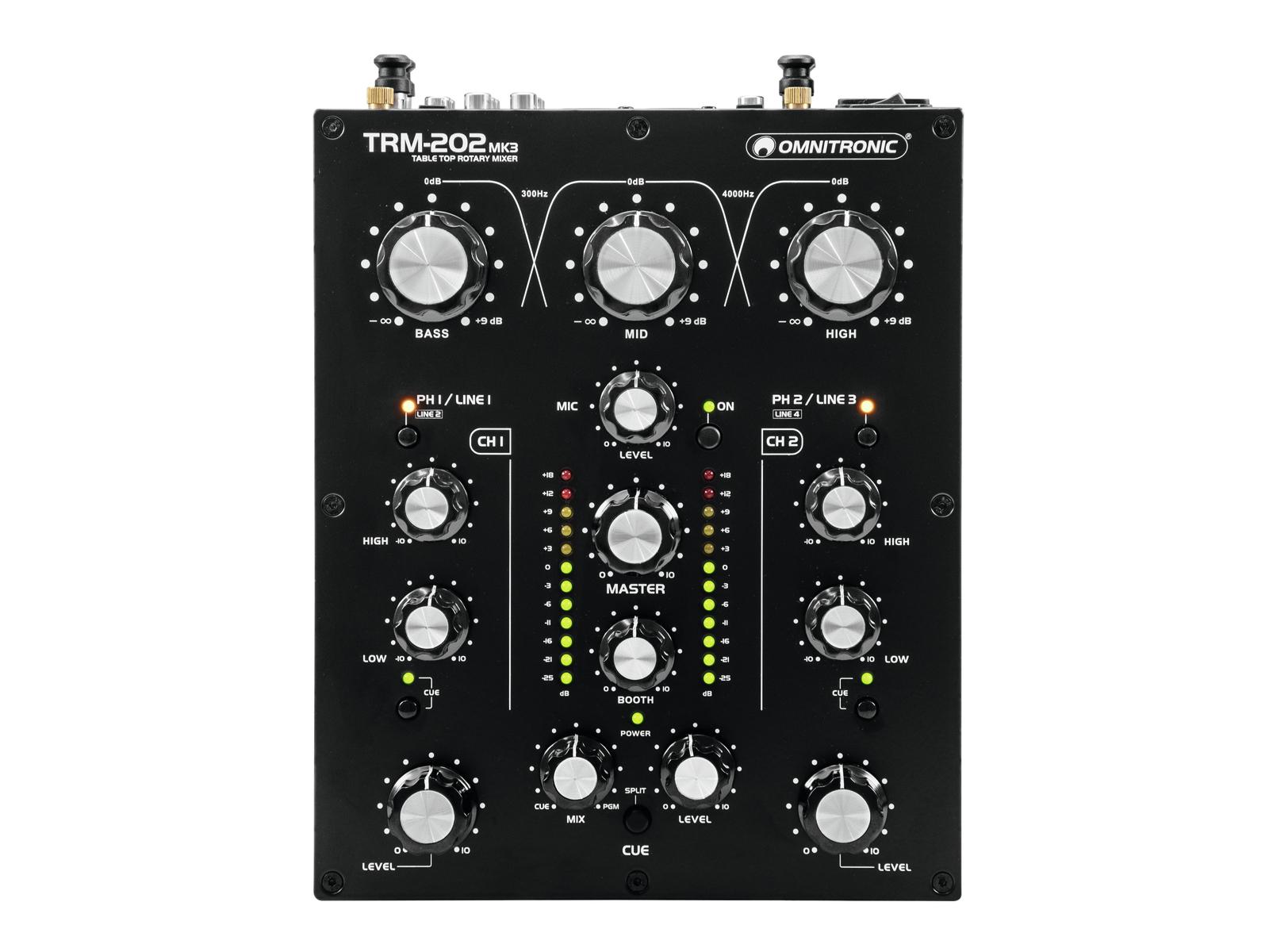 Omnitronic TRM-202MK3, 2-kanálový mixážní pult