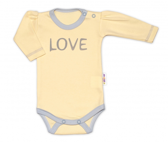 Baby Nellys Body dlouhý rukáv Love