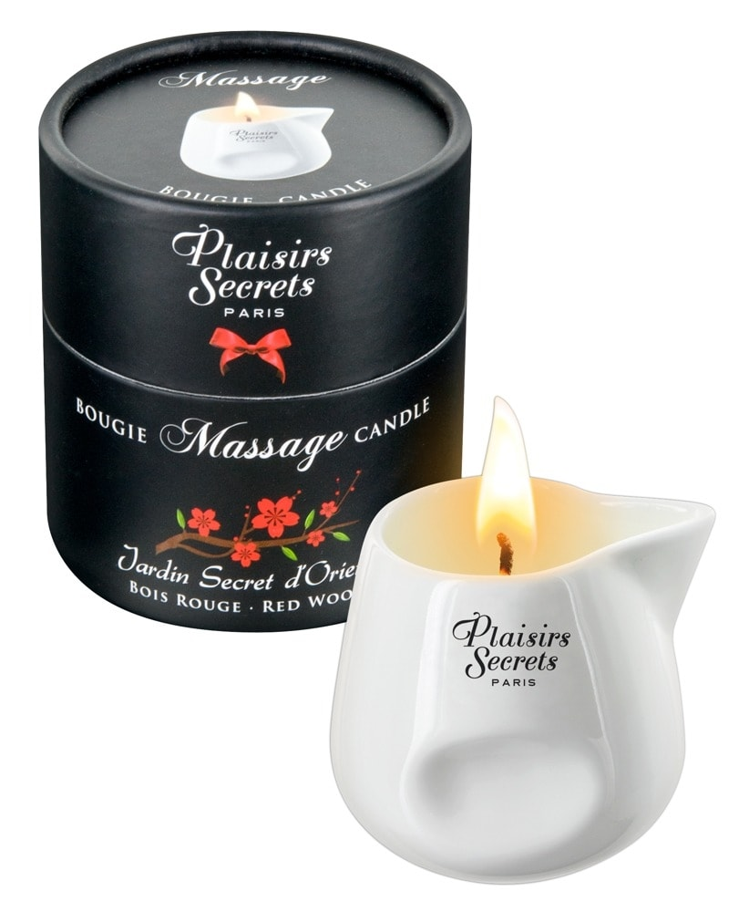 Masážní svíčka Plaisirs Secrets Candle Red wood (80 ml)