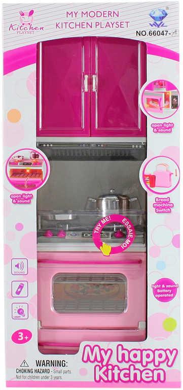 Dětská kuchyňská linka na baterie set s troubou a doplňky Světlo Zvuk plast