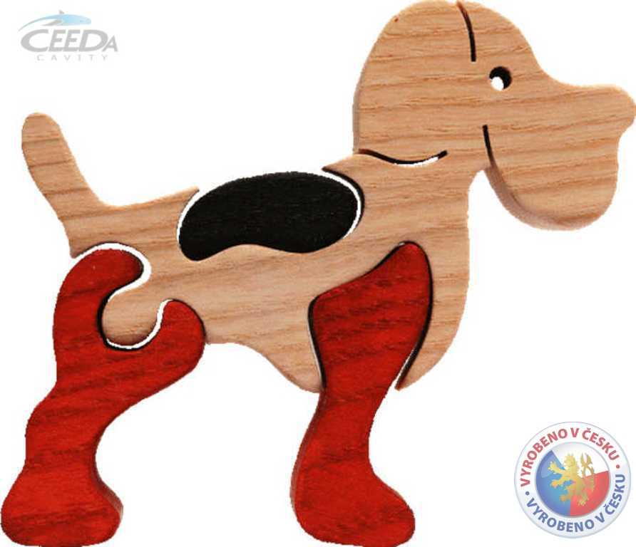 CEEDA DŘEVO Pes puzzle malé (pejsek)