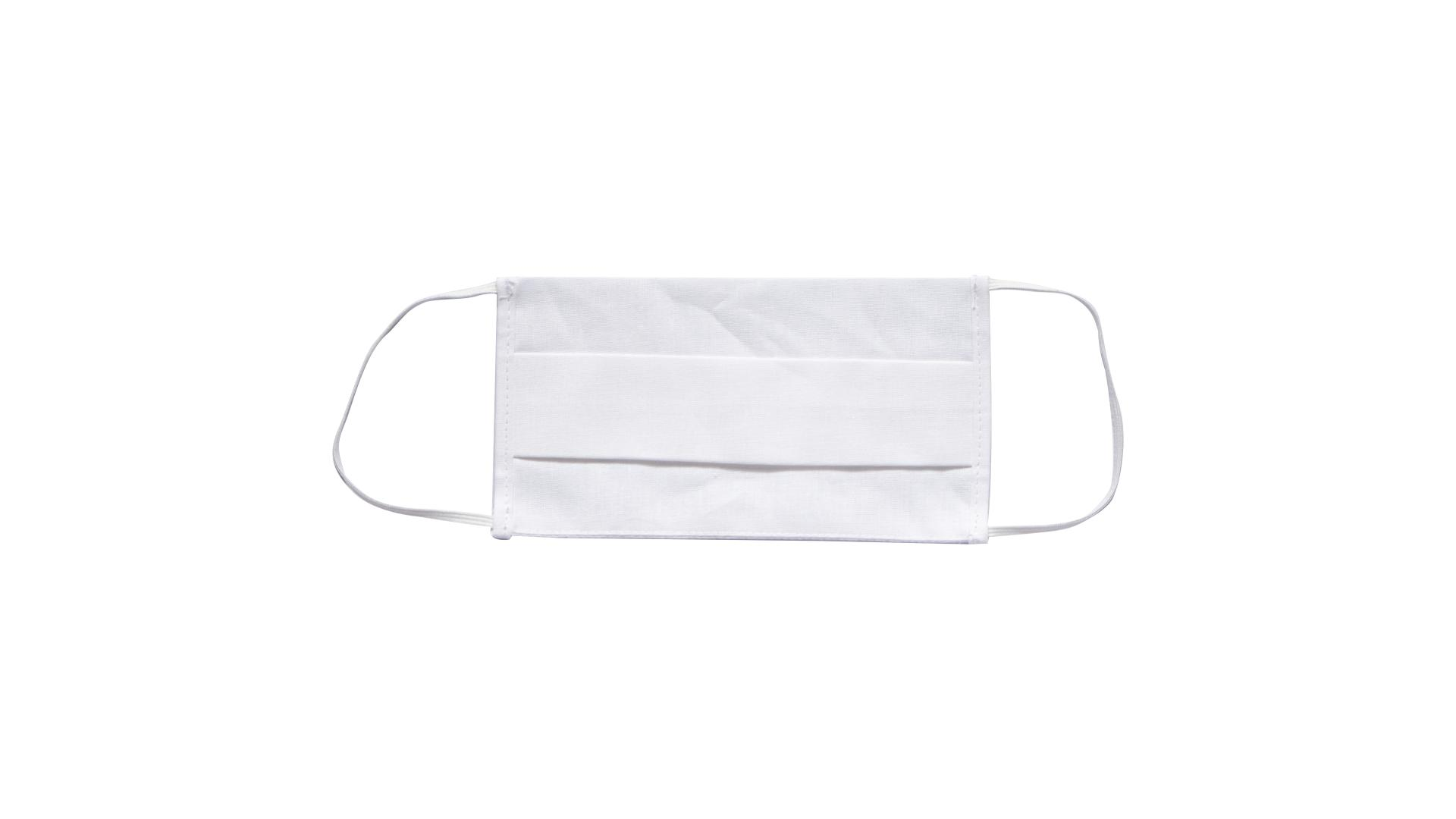 4CARS Dvouvrstvé ochranné bavlněné rouško bílé s gumičkou 1ks - menší