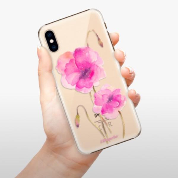Plastové pouzdro iSaprio - Poppies 02 - iPhone XS