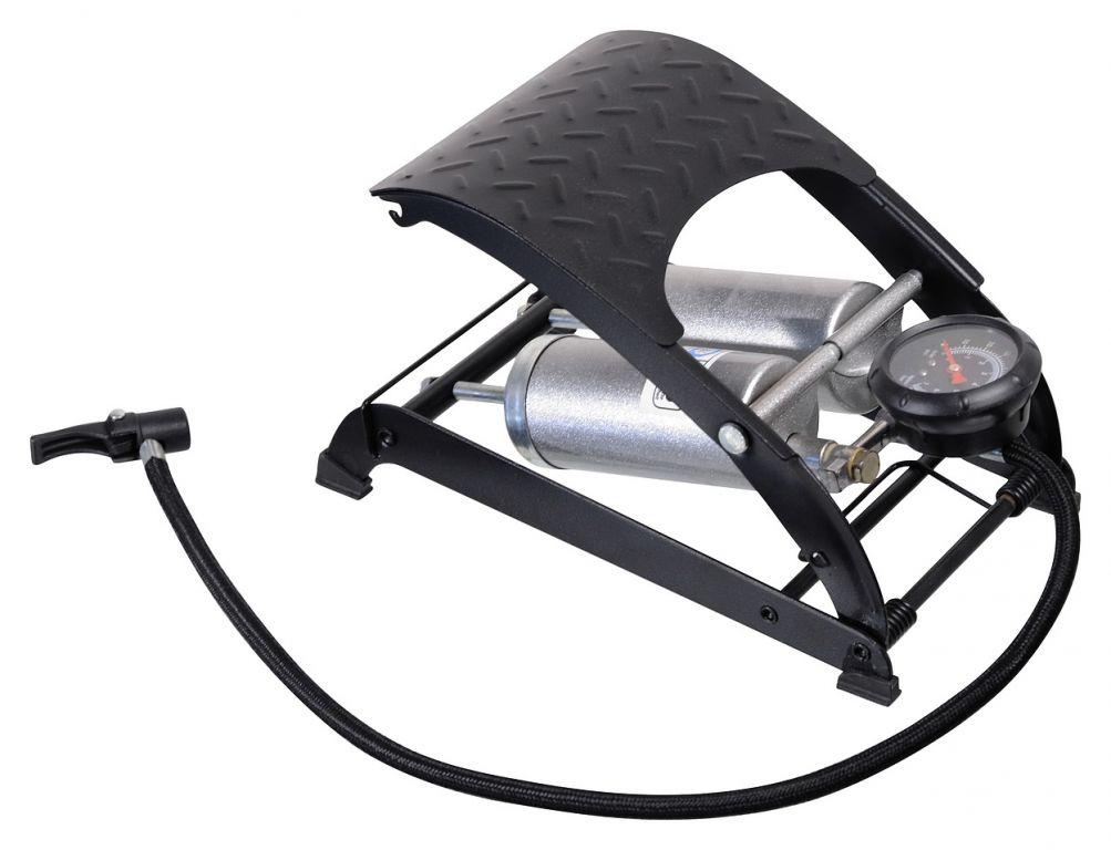 Hustilka nožní s manometrem dvoupístová - TÜV/GS