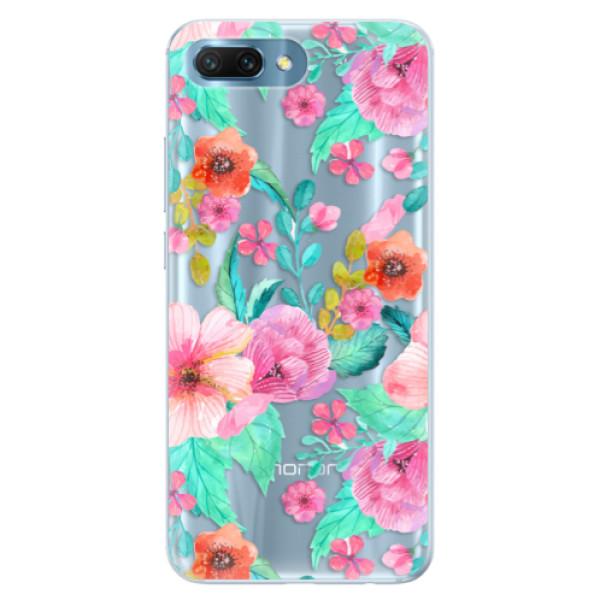 Silikonové pouzdro iSaprio - Flower Pattern 01 - Huawei Honor 10
