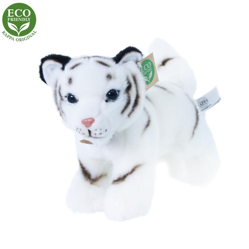 Plyšový tygr bílý mládě stojící s tvarovatelnými končetinami 22 cm ECO-FRIENDLY