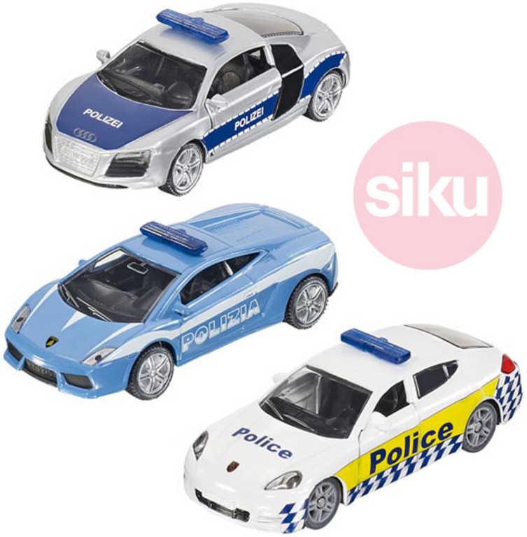 SIKU Sada 3 policejní auta
