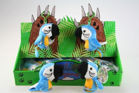 Plyš Papoušek modrý klíčenka
